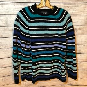 Carolyn Taylor Striped Chenille Sweater